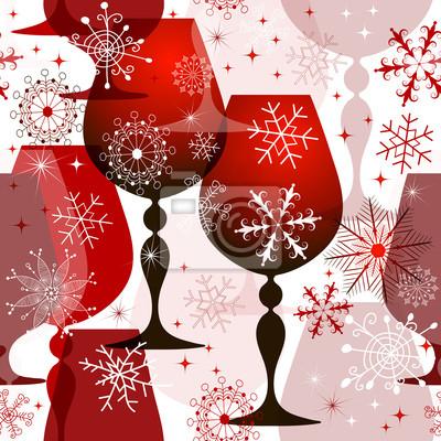 Weihnachten rot-weiß nahtlose Muster