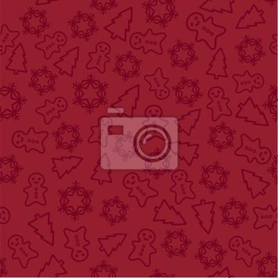 Sticker Weihnachten rotem Hintergrund