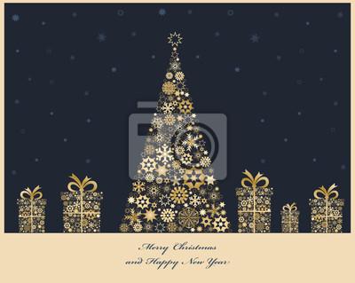 Weihnachtsbaum mit Geschenk-Boxen