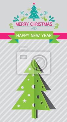 Weihnachtsbaum, Neujahr, Hintergrund