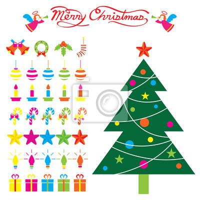 Weihnachtsbaum und Dekoration Objekte