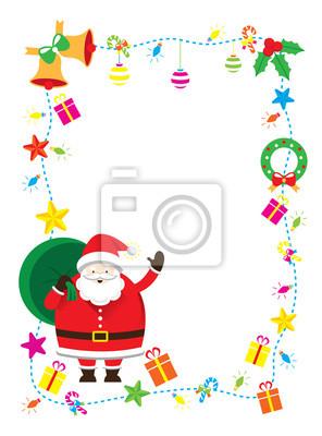 Weihnachtsmann, Dekorieren, Border & Hintergrund