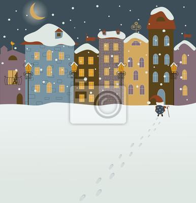Weihnachtsmann kommt in Weihnachtsstadt