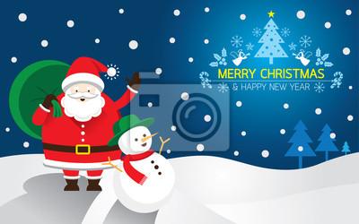 Weihnachtsmann, Schneemann, Hintergrund