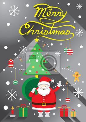 Weihnachtsmann, Weihnachts Text & Baum