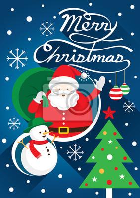 Weihnachtsmann, Weihnachts Text & Snowman