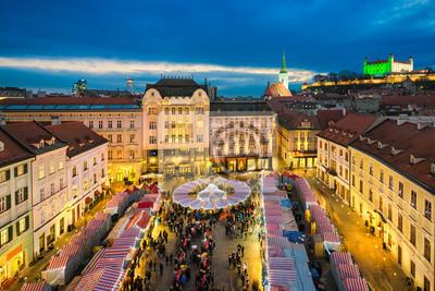 Weihnachtsmarkt in Bratislava, Slowakei