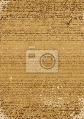 Weinlese-Hintergrund-A4-Format, basierend auf alten Handschriften