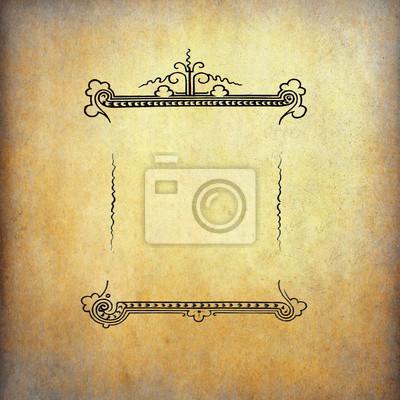 Weinlese klassische Etikett auf alte Papier mit Kopie Raum