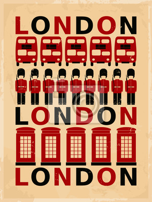 Weinlese London Poster
