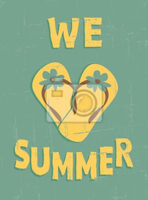 Weinlese-Sommer Poster