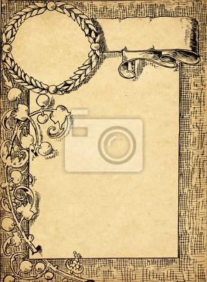 Weinlese-Zertifikat auf alten Grunge Papier