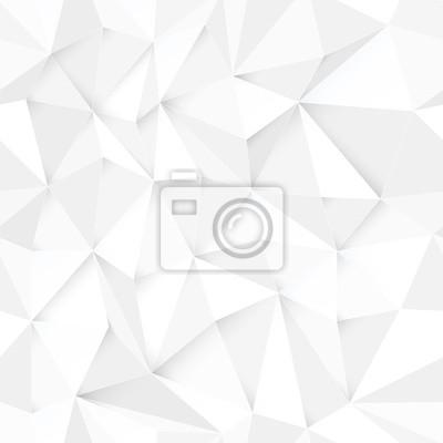 Weiß 3D Dreieck Muster, nahtlose Vektor. Vector Design-Textur. Weiß Niedrige Poly Muster Hintergrund