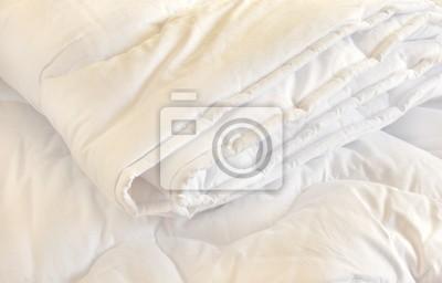 Sticker Weiß Bettdecke
