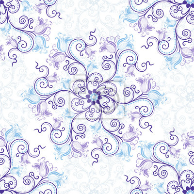 Weiß-blau nahtlose Muster