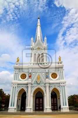 Weiß Kathedrale Kirche, Samut Songkhram, Thailand