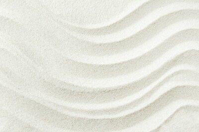 Sticker Weiße Sand Textur Hintergrund mit Wellenmuster