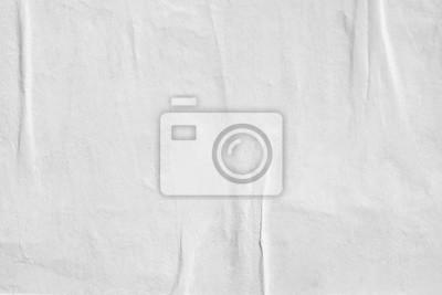 Sticker Weißer leerer zerknitterter Papierbeschaffenheitshintergrund zerknitterte alte Plakatbeschaffenheits-Hintergrundoberfläche leer für Text