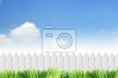 Weißer Zaun