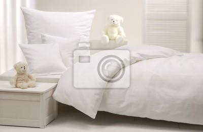 Sticker Weißes Kinderbett