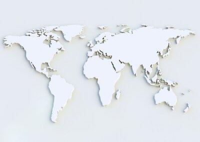 Sticker Weltkarte 3D - 3D-Weltkarte