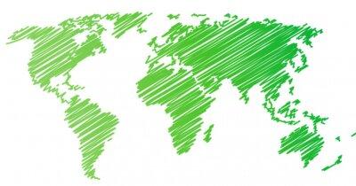 Sticker Weltkarte