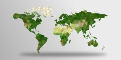 Sticker Weltkarte aus Polygonen