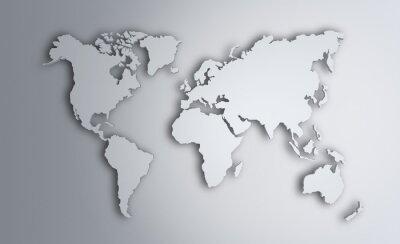 Sticker Weltkarte. Bild mit Ausschnittspfad