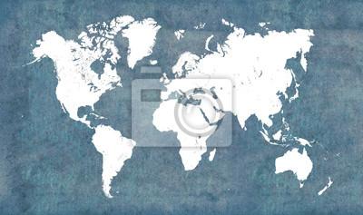 Sticker Weltkarte, Jahrgang