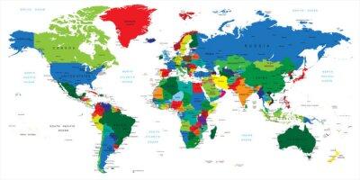 Sticker Weltkarte-Ländern