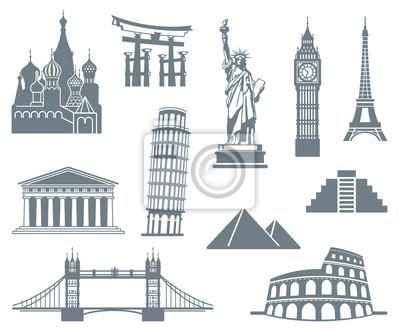WeltSehenswürdigkeit Icon Set