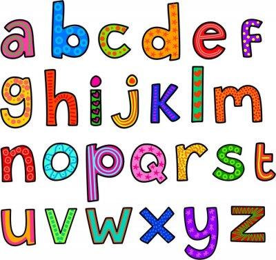 Sticker Whimsical Lowercase Alphabet