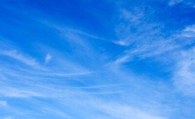 Sticker White clouds in blue sky