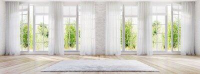 Sticker White interior design with large windows