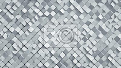Sticker White rhomb mosaic surface 3D render
