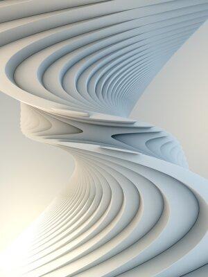 Sticker White stripe pattern futuristic background. 3d render illustration