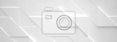 Sticker Wide White Background 3D Abbildung
