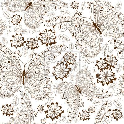 Wiederholen Blumen Vintage-Muster