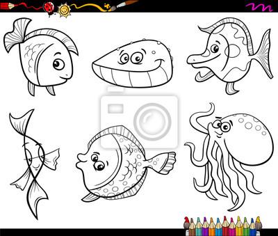 unterwassertiere malvorlagen c - zeichnen und färben