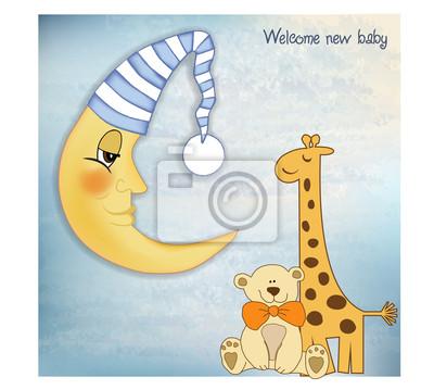 Willkommen Baby Grußkarte