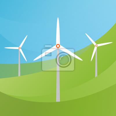 Windkraftanlage Landschaftsabbildung. Wind energie.
