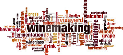Sticker Winemaking word cloud