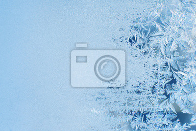 Sticker Winter background, Frost auf Fenster