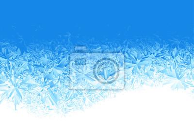 Sticker Winter blau Eis Frost Hintergrund