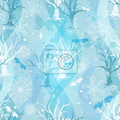 Winter-blaue Muster wiederholen