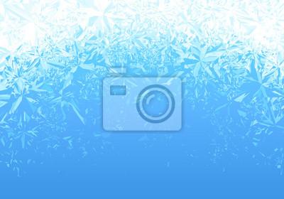 Sticker Winter blauen Eis Frost Hintergrund