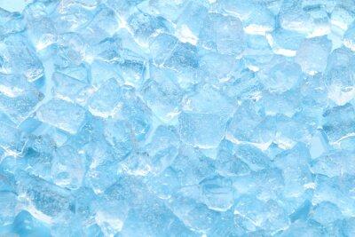 Sticker Winter blauer Eiswürfel Textur Hintergrund