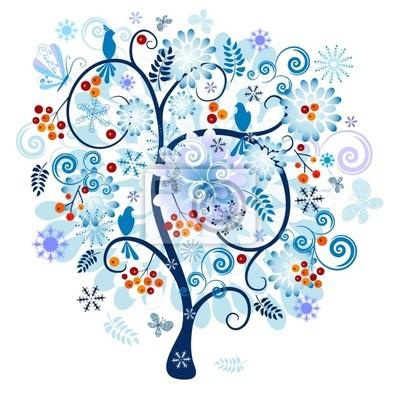 Winter dekorative Baum