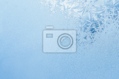 Sticker Winter Hintergrund, Frost auf Fenster
