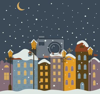 Winter-Stadt.